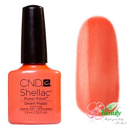 Shellac CND Korea Desert Poppy - Open Road Collection 2014