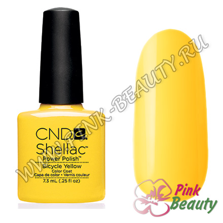 Shellac CND USA Bicycle Yellow - Paradise collection 2014