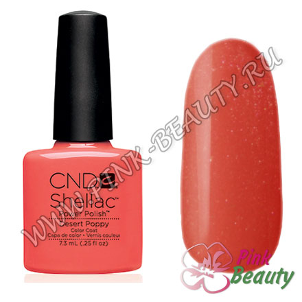 Shellac CND USA Desert Poppy - Open Road Collection 2014