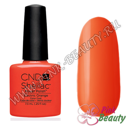 Shellac CND USA Electric Orange - Paradise collection 2014